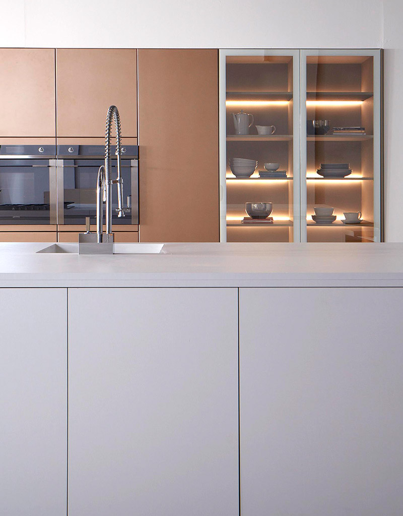 Kitchen Cabinets Modern Sleek White