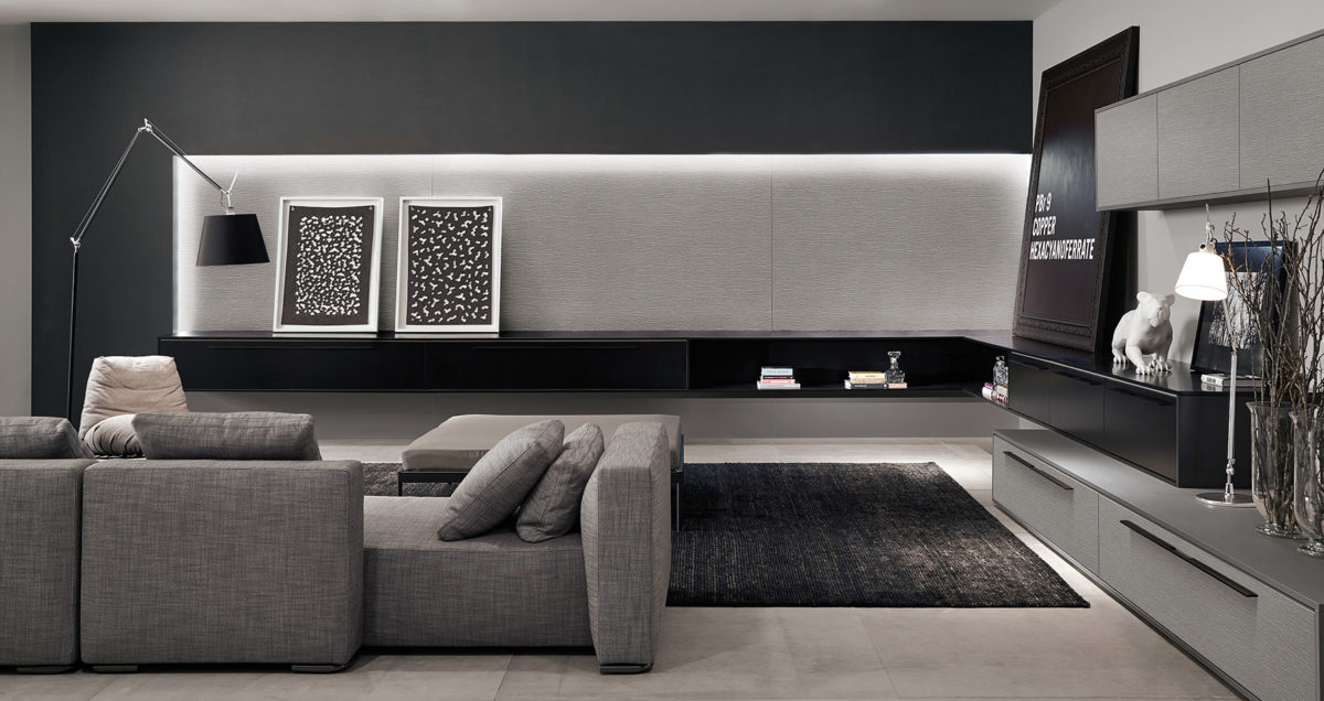 Italian Cabinets Living Room Built Ins