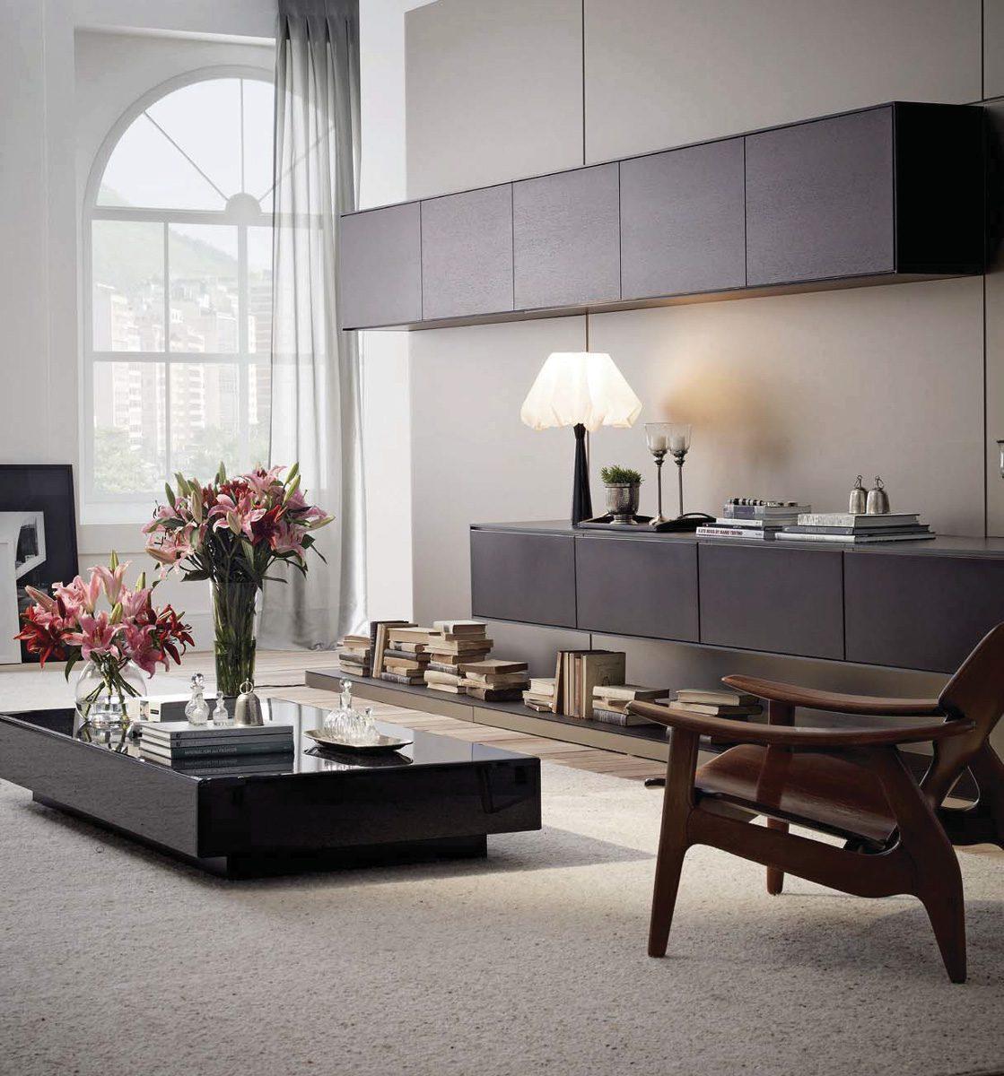 Living Room Custom Storage Ideas